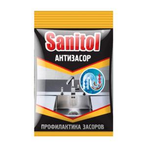 Антизасор Sanitol для чистки труб 90 г.