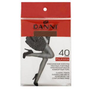 Колготки Danni Filanka 40 ден ,цвет: телесный,черный ,загар, р р 2,3,4,5