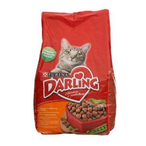 Корм DARLING Сухой для кошек Птица Овощи 2кг