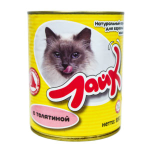 "Корм ""Лайк"" консервы для кошек 850 г телятина"