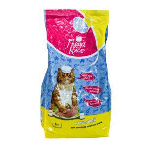 Корм для кошек сухой «Пища котов. С курочкой» 3кг
