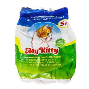 Наполнитель для кошачьего туалета комкующийся My Kitty 5л