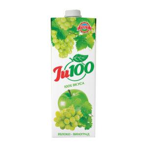 Нектар Яблочно виноградный осв. Ju100 1л