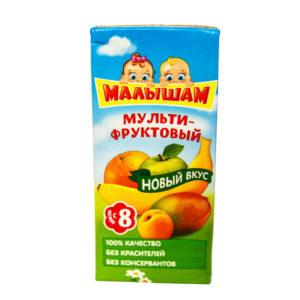 """Нектар из яблок, абрикосов и апельсинов """"мультифруктовый"""" 330 мл"""