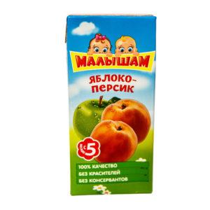 Нектар яблочно персиковый неосветленный ФрутоНяня Малышам 0,33 л