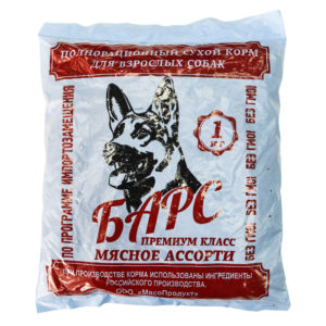 "Сухой корм для собак ""Барс"", 1 кг"