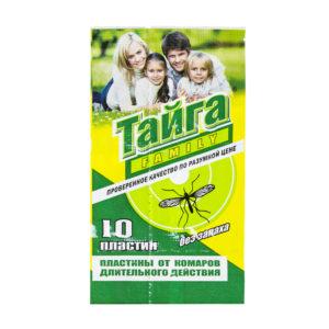 Тайга инсектицидные пластины от комаров 10 шт