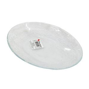 Тарелка 215 мм узорное стекло овал