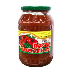 """Томатная паста СТ/Б """"Астраханка"""" 1000гр ГОСТ 27 %"""