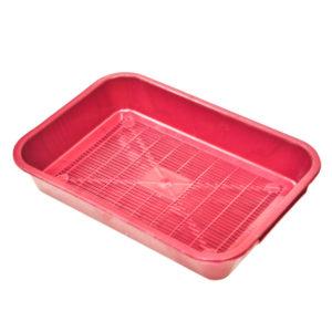 Туалет для кошек прямоугольный с решеткой 365*260*65
