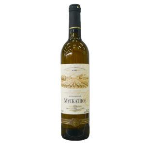 Вино ЗГУ Кубань полусладкое белое Мускатное 0,7л
