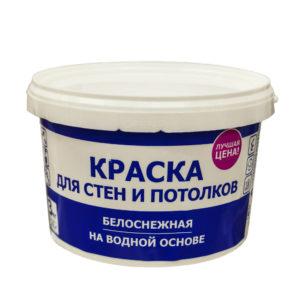 Водоэмульсионная краска для стен и потолков 3 кг ведро