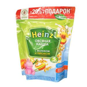 Кашка Хайнц 300г овсяная с персиком молочная