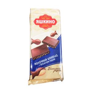Шоколад Молочный Яшкино с крекером 4 штХ90 г (спайка)