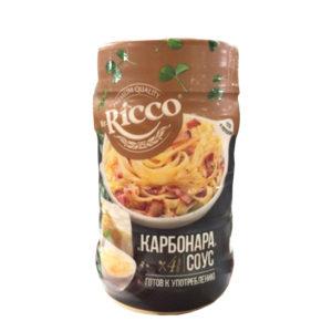 Соус Mr.Ricco Карбонара на основе раст.масел ПЭТбанка 440гр.
