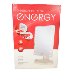 Зеркало косметическое ENERGY EN 704s, LED подсветка